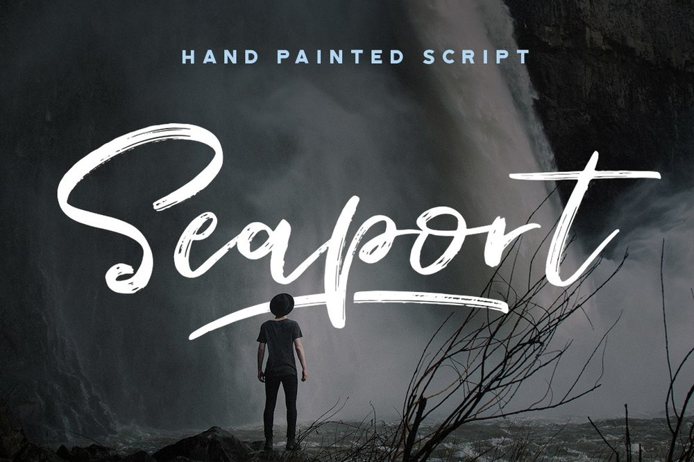 Seaport  - Hand painted script -  $15