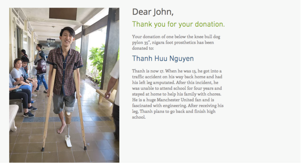 Personalized Follow-up with Your Donation
