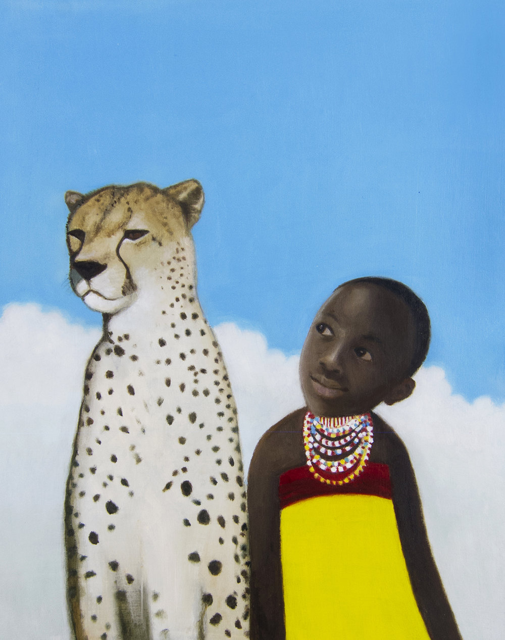 Girl and Cheetah