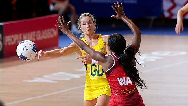 Julie Corletto in action against England. Picture: Adam Head  Source:  Adam Head / News Corp Australia