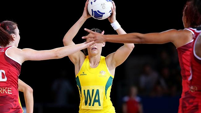 Madi Robinson in action against England. Picture: Adam Head Source:  News Corp Australia