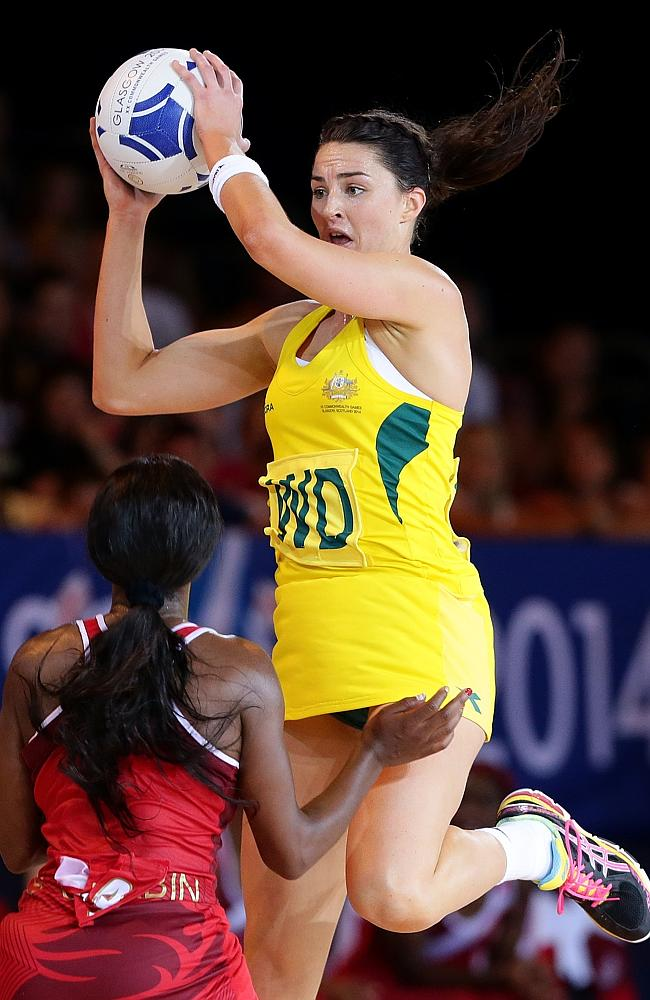 Sharni Layton in action against England. Picture: Adam Head Source:  News Corp Australia