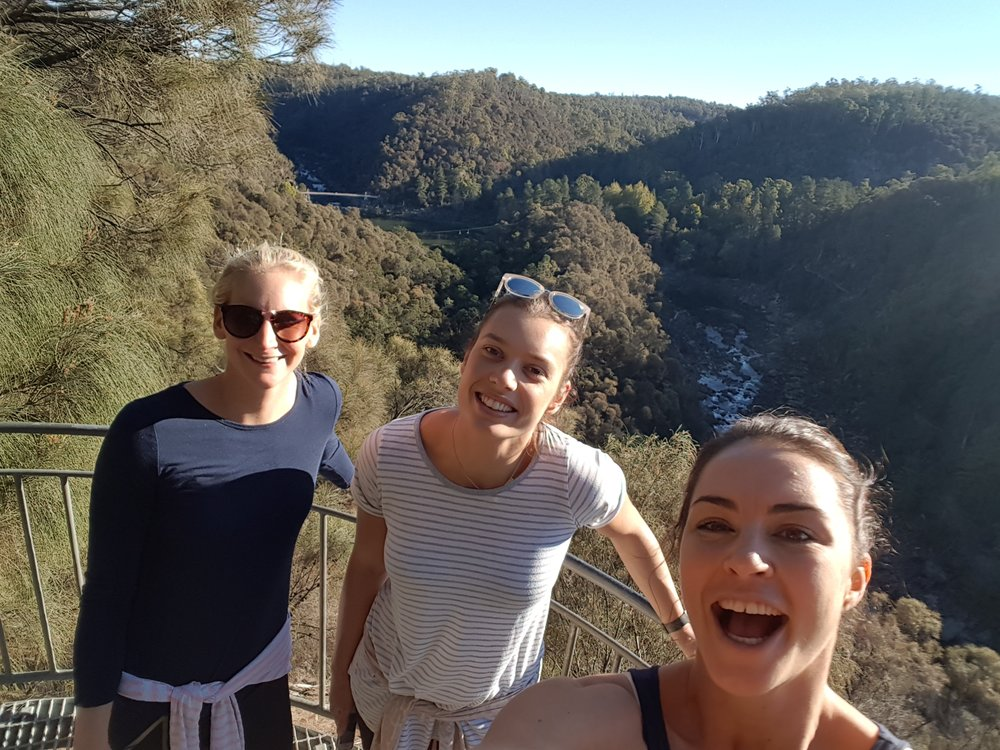 April, Micaela and I getting back to nature and exploring Cataract Gorge
