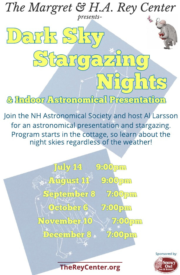 Stargazing  with     NH Astronomical Society Volunteers and hosted by Al Larsson