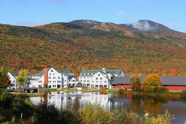 Fall is a Ball at Waterville Valley Resort: Surrounded by the colors of foliage season in the middle of the White Mountain National Forest