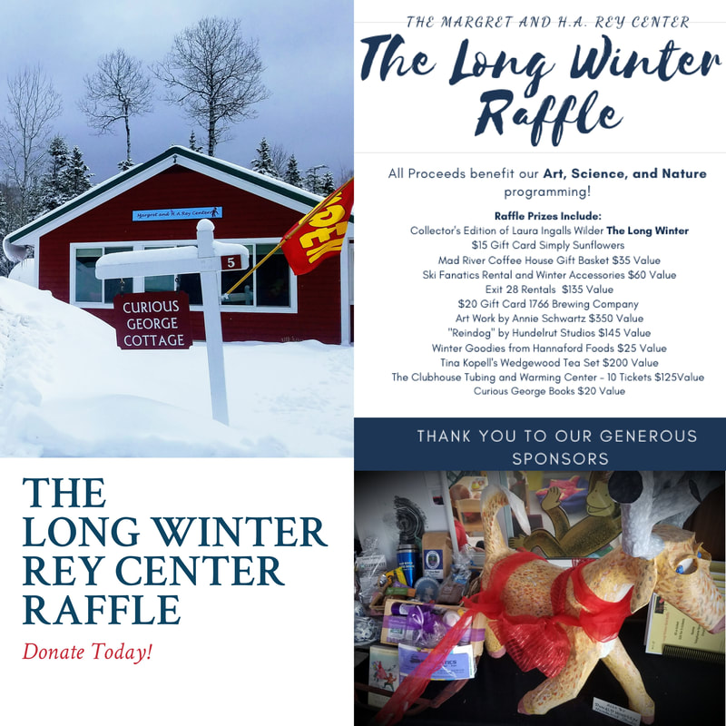 """Waterville Valley's  Rey Center at Curious George Cottage is having a""""Long Winter Raffle,"""" with a host of good things going to a lucky winner."""