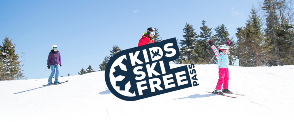 With every Adult Plus Pass purchased, receive a voucher for a free Junior Pass for kids ages 6-12 years old. This pass can be given to any child whether they are a niece, nephew, grandchild, neighbor, or any kid that wants to ski or ride. Additionally, when purchased this spring, skiing and riding for the remainder of the 2018/19 season is free.