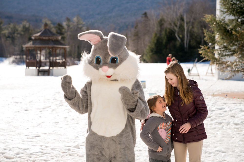 The Waterville Valley's Recreation Department will offer its annual Easter Egg Hunt in the Town Square on Saturday, April 13th. There will be more than 1000 filled eggs with a chance of finding a golden egg.The program is free, and there will be prizes & pictures with the Easter Bunny, The hunt will begin at 9:30 a.m. Kids 11 years old & under are invited. There will be hot cocoa and coffee too. Please bring your own basket to collect the eggs.