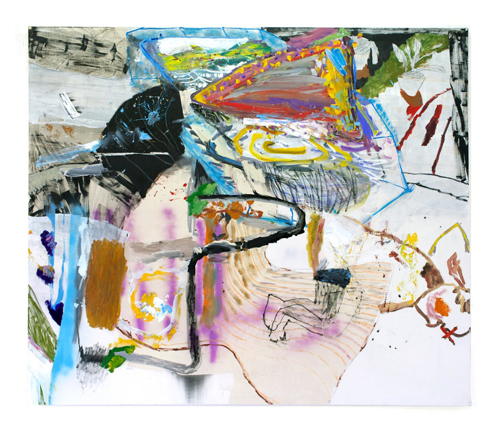 Daniel Herr  Good Neighbor , 2015 oil, charcoal, pastel on canvas 72 x 84 inches (183 x 213 cm) DH34