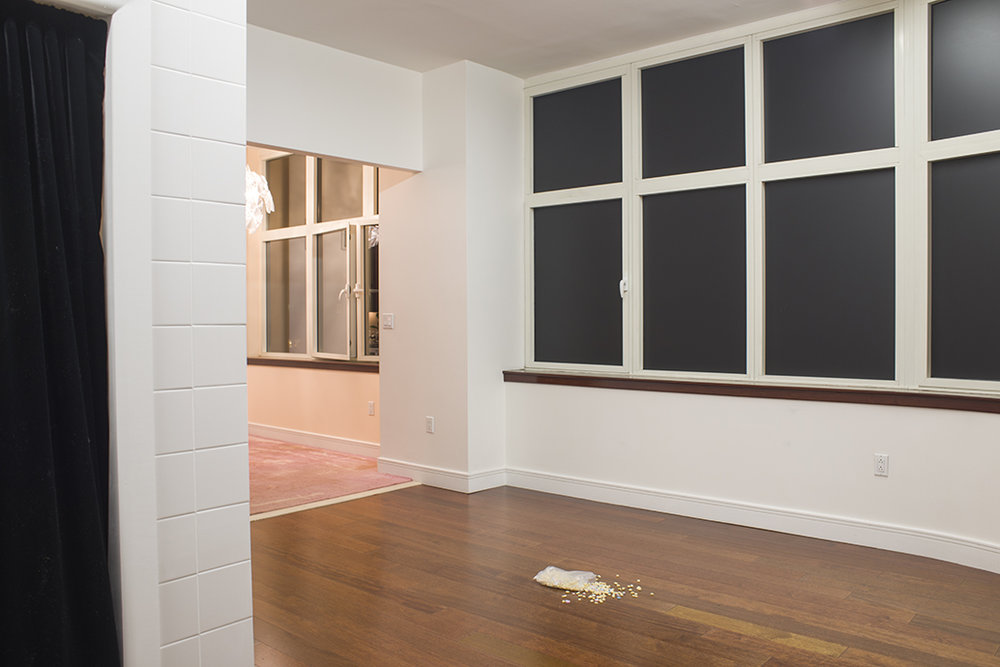 Daniel Klass Beckwith  spelt ,2015 urethane foam,baked polymer clay,plastic bag dimensions variable view 2