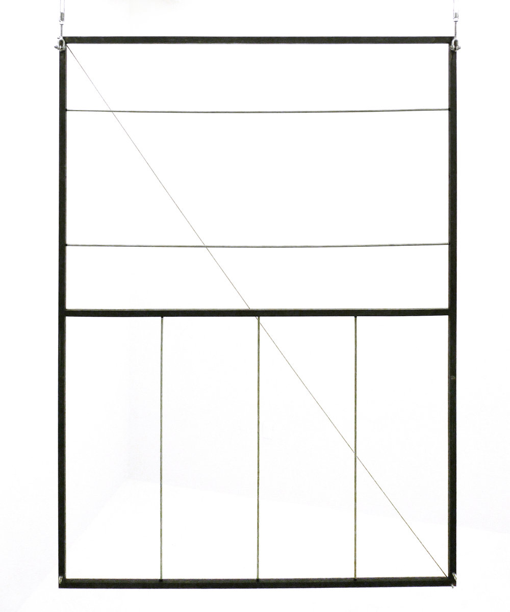 Sean Donovan  Gateway 2 , 2017 hot rolled steel, hardware, metal wire 84 x 60 x 1 inches (214 x 152 x 3 cm) SD33