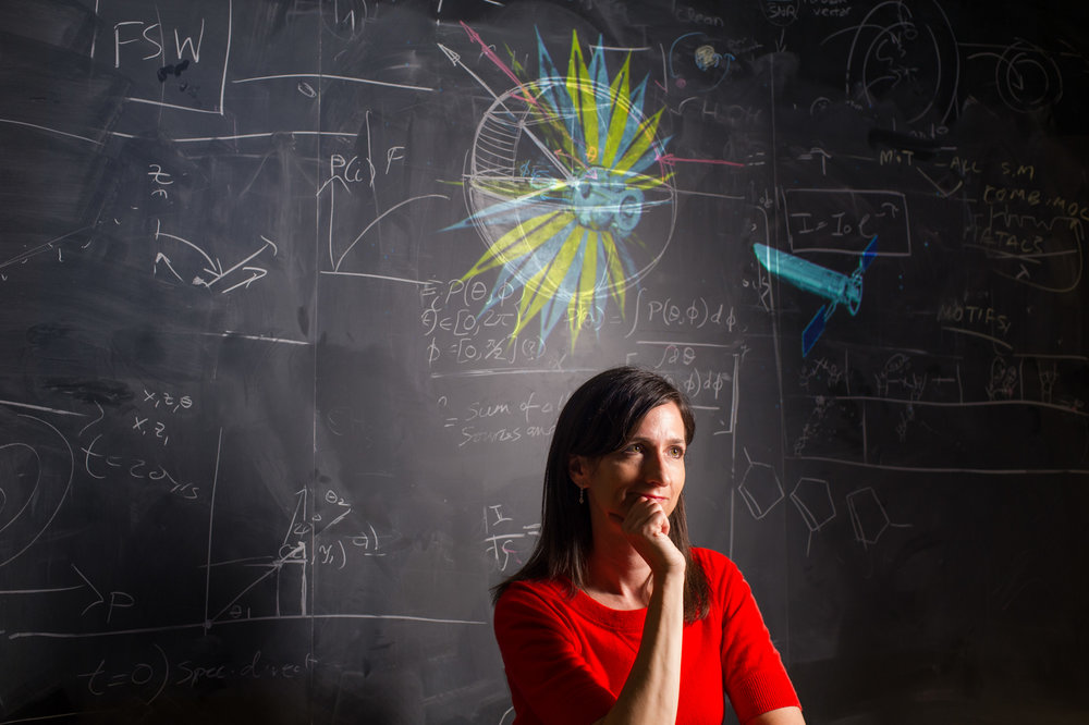 Astrophysicist and planetary scientist Sara Seager at her MIT office