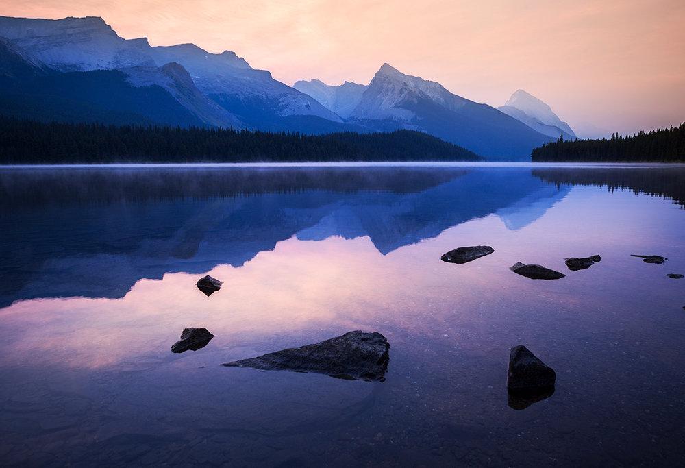 Smoky Maligne Lake Sunrise_IG.jpg
