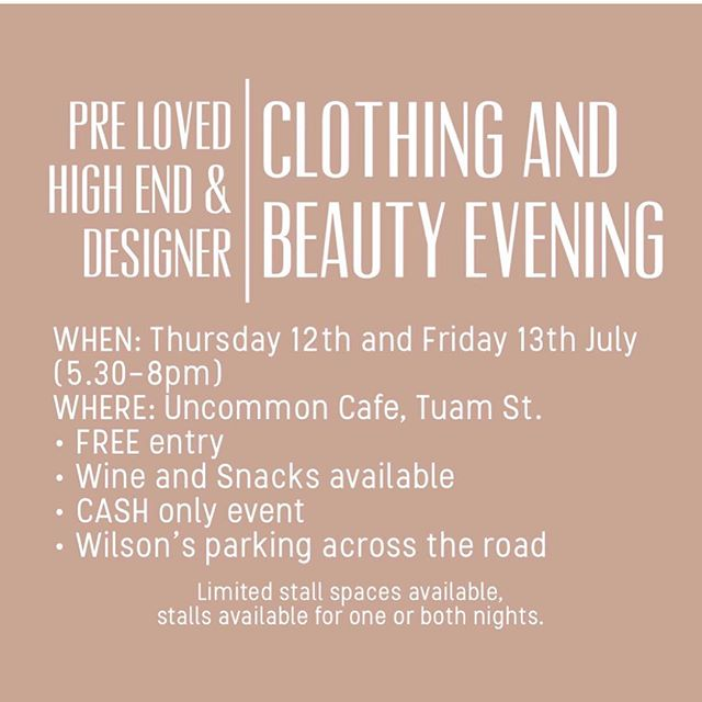 @kasiastanicichmakeup & @tashleighrooney are having a market night @uncommon_cafe High End Designer Clothing & Beauty going cheap 🙋🏼‍♀️ . @mary_oh_ will also be joining us, selling her goodies and T's . If you want to have a stall alongside us contact myself (tash) or @kasiaastanicich 🖤