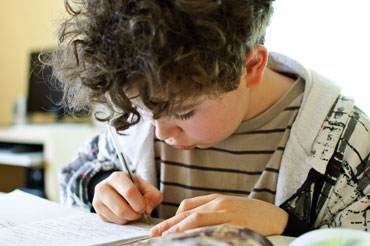 Writing at home can improve reading skills too.