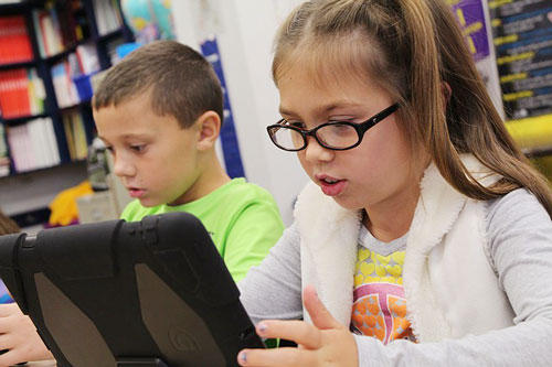 Lesson plans in the classroom with iPads