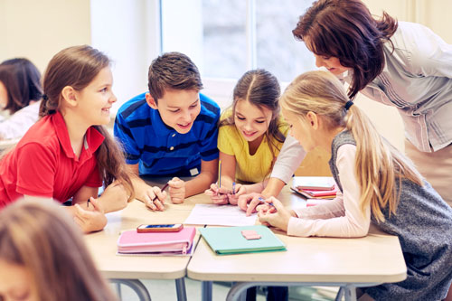 Lesson Plans, Teacher with Students