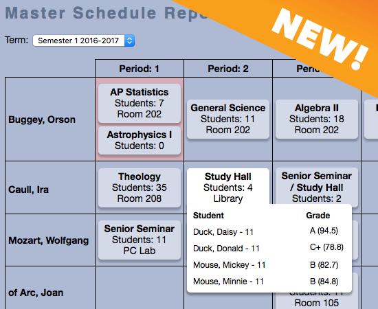 New Master Schedule