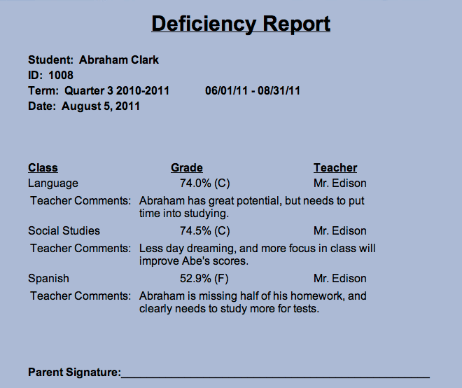 <strong>Deficiency Reports</strong>