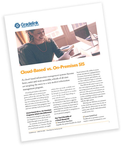 Cloud-Based vs. On-Premises SIS Whitepaper