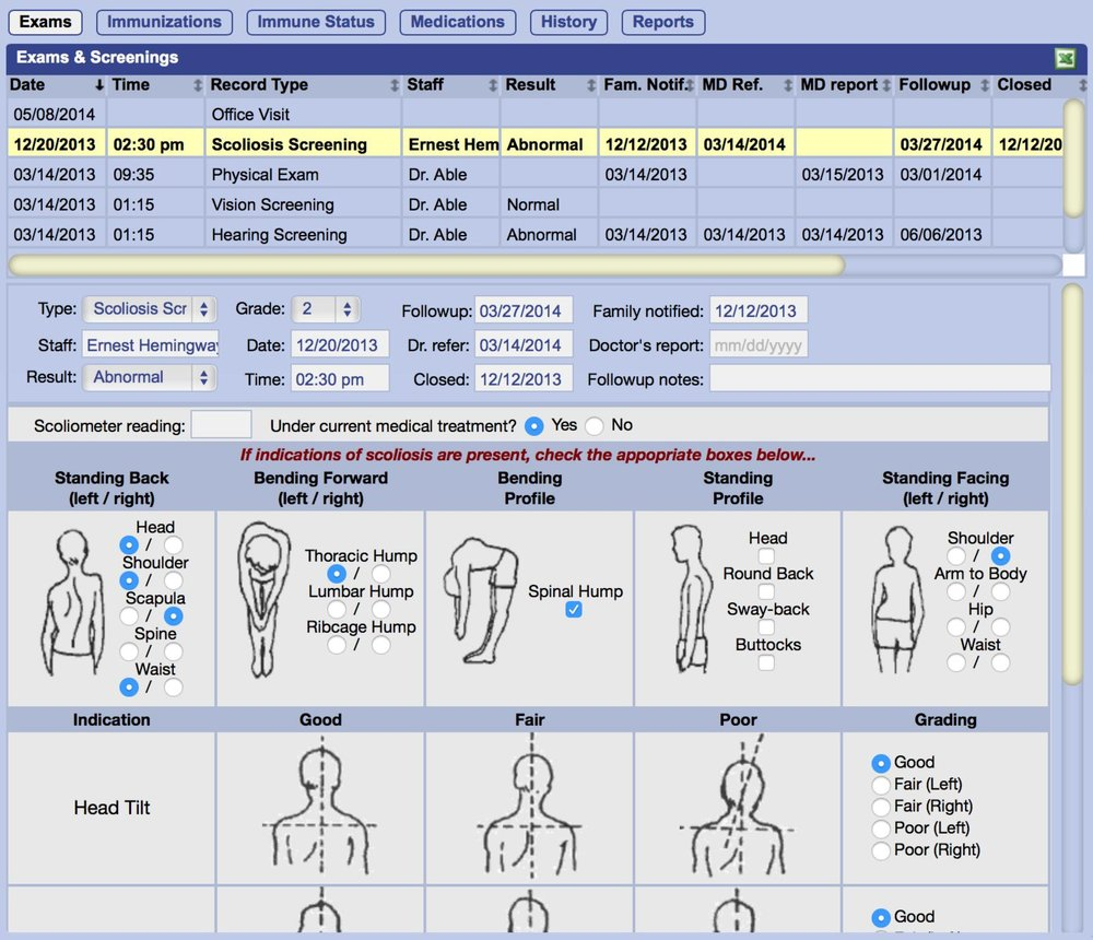 Comprehensive medical records