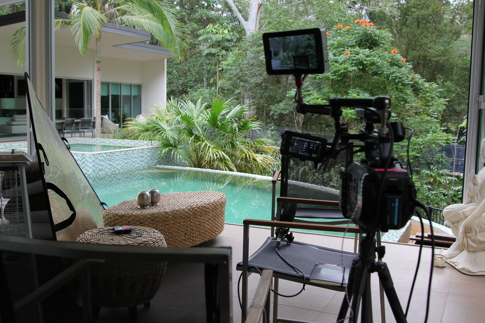 No complaints about the location for this interview set-up