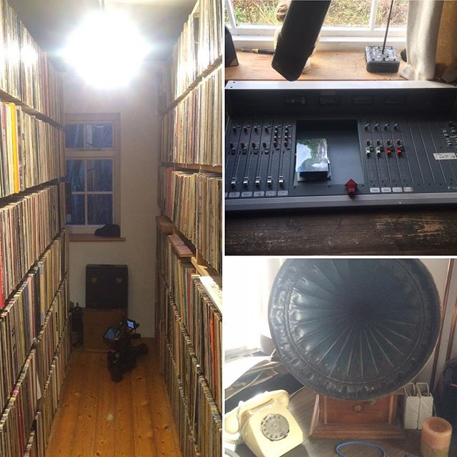 This time last week filming in a pretty special house with a very enviable record collection. #johnpeel : #theweddingpresent #documentary #somethingleftbehind #director #music #dj #peel
