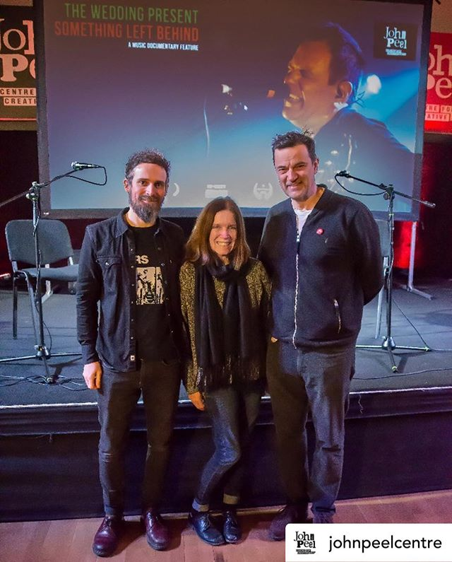 Posted @withrepost • @johnpeelcentre Tonight we had the screening of Something Left Behind, the fantastic Wedding Present music documentary.  Pictured here after the show director Andrew Jezard, our very own Sheila Ravenscroft and Tony Gardner who hosted the after show Q&A.  #IVW19 @weddingpresent @tonygardner64 @theweddingpresentdoc