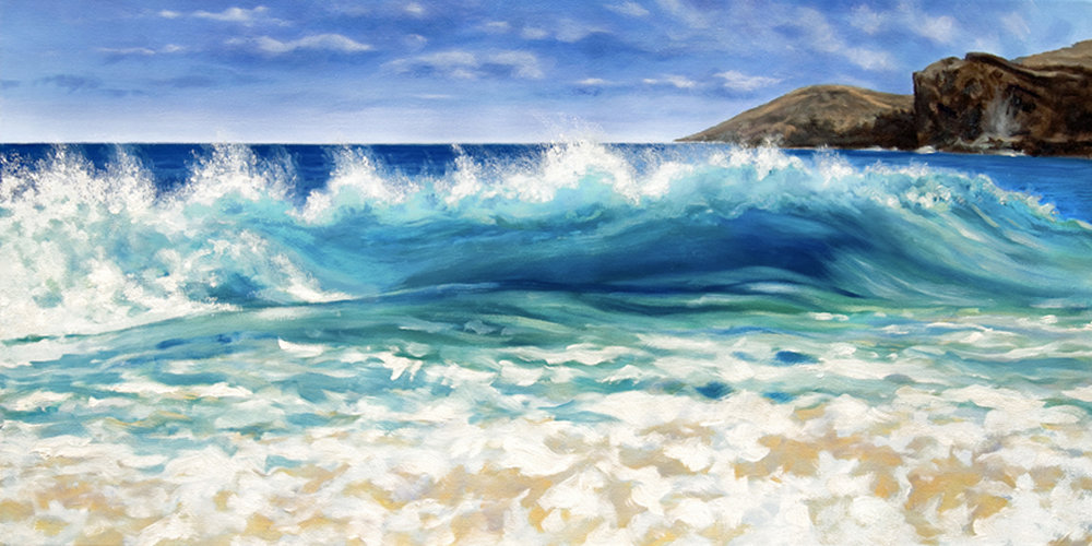 hawaii landscapes afternoon at sandy beach carol collette art