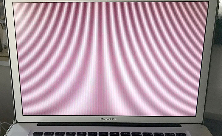 The screen of death.
