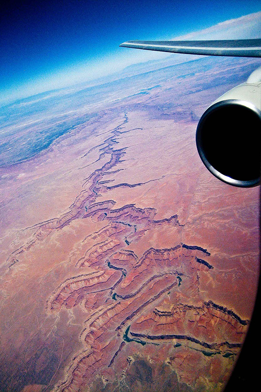 Photo of the Grand Canyon. Taken with my Canon Powershot camera from my first class seat, on my way to CA to shoot TV commercials for Campbell-Ewald advertising. My coolest photo with that camera!
