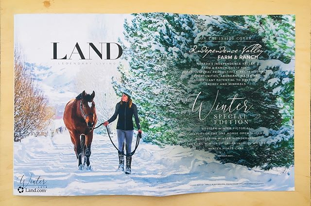 OMG! I am just beyond excited that the Editor for LAND.COM picked MY photography to be on the Front Cover of the Winter Issue 2019, AND is featuring my Winter Wonderland Story. If you are curious of how all these images came alive and how I met Allison, you can read the full story here: http://bit.ly/2S3CZft 🐴 Allison Brunelli with her horse Kjartan graze the front cover and also have a few more images inside the magazine. All images were taken at the beautiful Franktown Meadows  Equestrian Center in Washoe Valley, NV. 🐴 Land Magazine (www.land.com) is the largest rural property publication in the country, reaching over 280,000 high-end readers and land enthusiasts each year. 🐴 Here are the pages! 😍 . . .  #equinephotographer #equestrianlifestyle #equestrianlifestylephotographer #canonshooter #equineportrait #horseandgirl #inlovewithequines #horseportrait #horsecrazy #canon5dmarkiii #horsephotography #creatememoriesbyanett #horsemagazine #landmagazine #frontcover #magazinecover #featuredphotographer #winterwonderland #winterphotoshootwithmyhorse