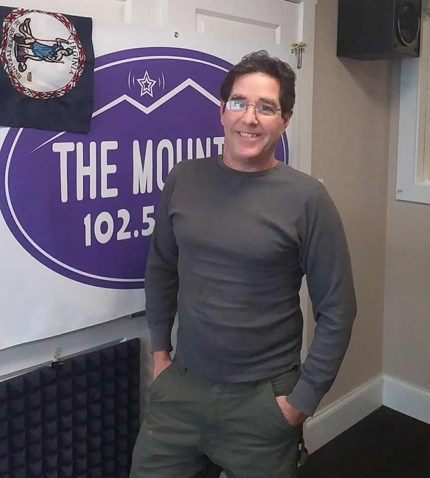 Mountain Mornings host Chris Conner at the Mountain 102.5 studio in Roanoke, VA