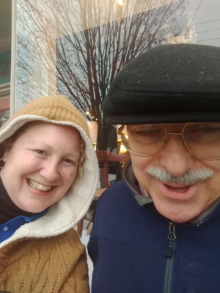 Michelle Belton, owner of Companion Home Care Inc, with client Chris Lemon