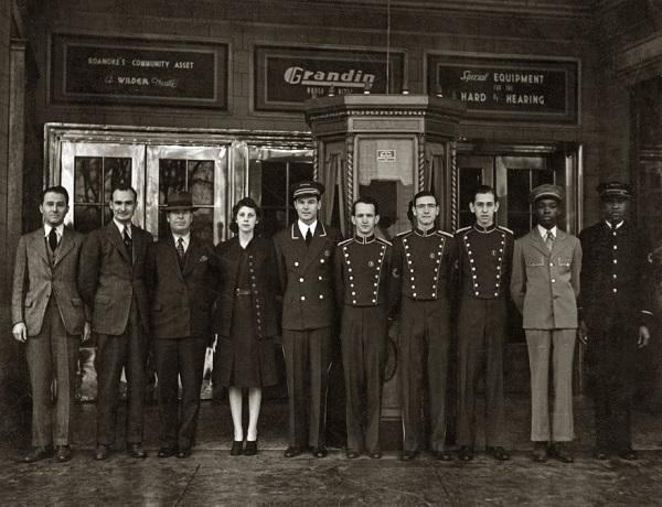 Grandin Theater staff in 1939
