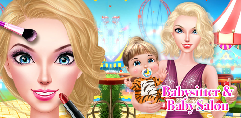 Fashion Babysitter SPA Salon  Start by taking the babysitter to the spa for a facial. Wash, exfoliate and treat her dry skin to make her glow. Use special oils and lotions to keep her looking fabulous while she works with kids. Then it's time for a fun makeover.