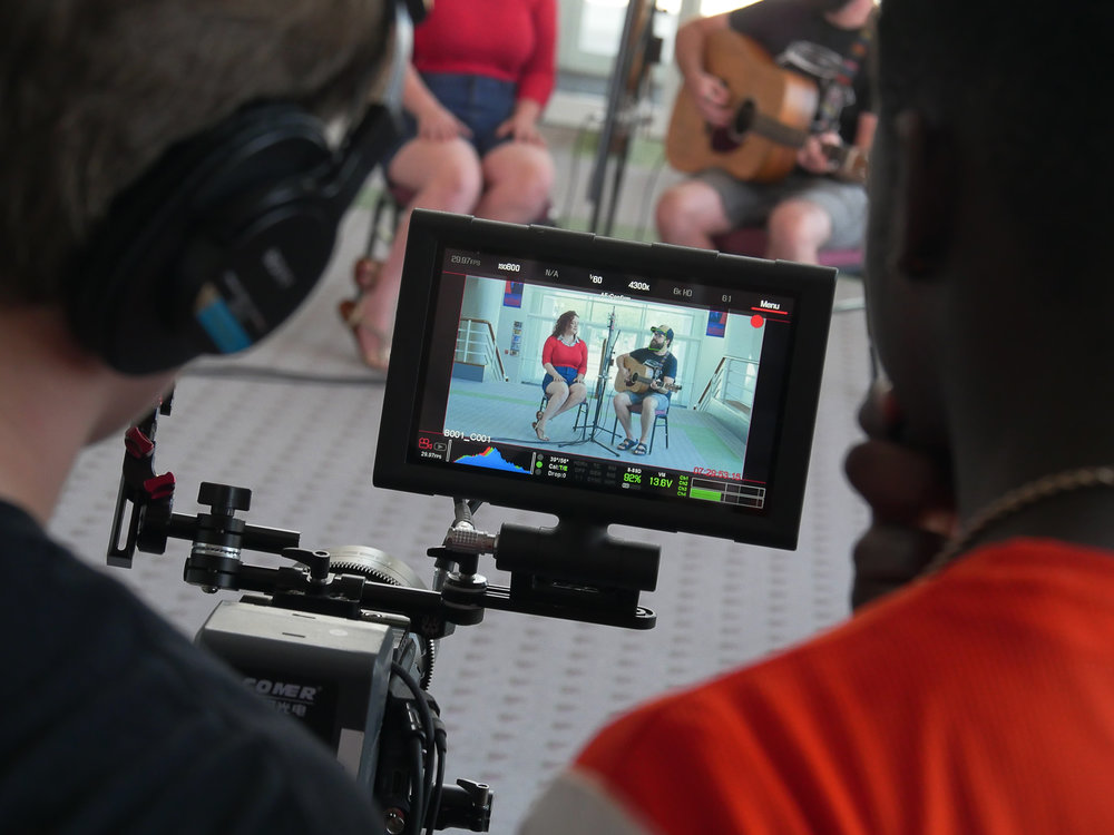 MMP Boot Camp Music performance session behind camera