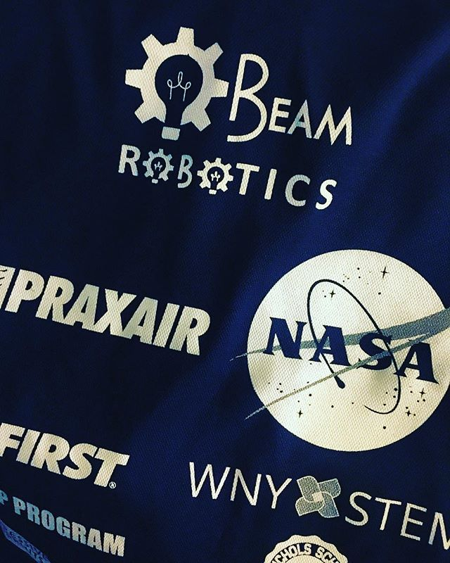 Sneak peek at our brand new uniforms! Check back this week for the team wearing them! #beambots #beamteam #robotics