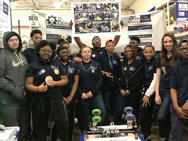 Ladies and gentlemen, WINNERS of the 2018 @firstroboticscompetition ROOKIE INSPIRATION AWARD 🥇 our VERY OWN BEAM TEAM ROBOTICS !!! We are SO PROUD of them!!! Look how hard they worked to achieve this HUGE honor: