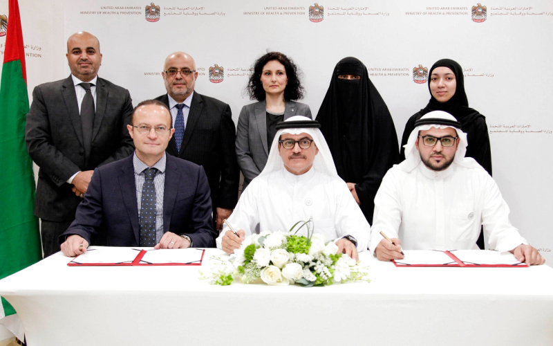 MoU signing with UAE Ministry of Health and Prevention
