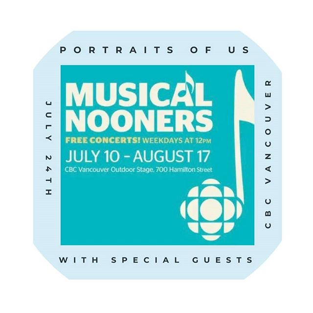 We are so incredibly excited to announce that we will be playing at the CBC Nooners concert next Tuesday, July 24th at 12pm! We hope to see you there to support us in this wonderful opportunity! PS we will have some special songs being played with Anna and Regan Luth from our side project @thecrescentsky. • • • • • @cbc_music #cbc #vancouvermusicscene #vancouver #vancouvermusic #musicians #portraitsofusduo #guitar #cello #music #poster #oceanmusic #folk #indie #roots