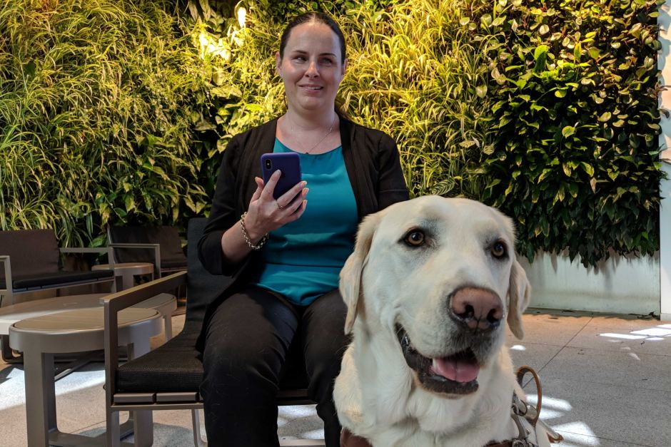 Navigation made easy through new app to help the vision-impaired   Being blind, apps such as trip planners and GPS maps help her navigate the city and stay organised – and then there's her trusty guide dog Toby.  Nadia Daly - ABC News