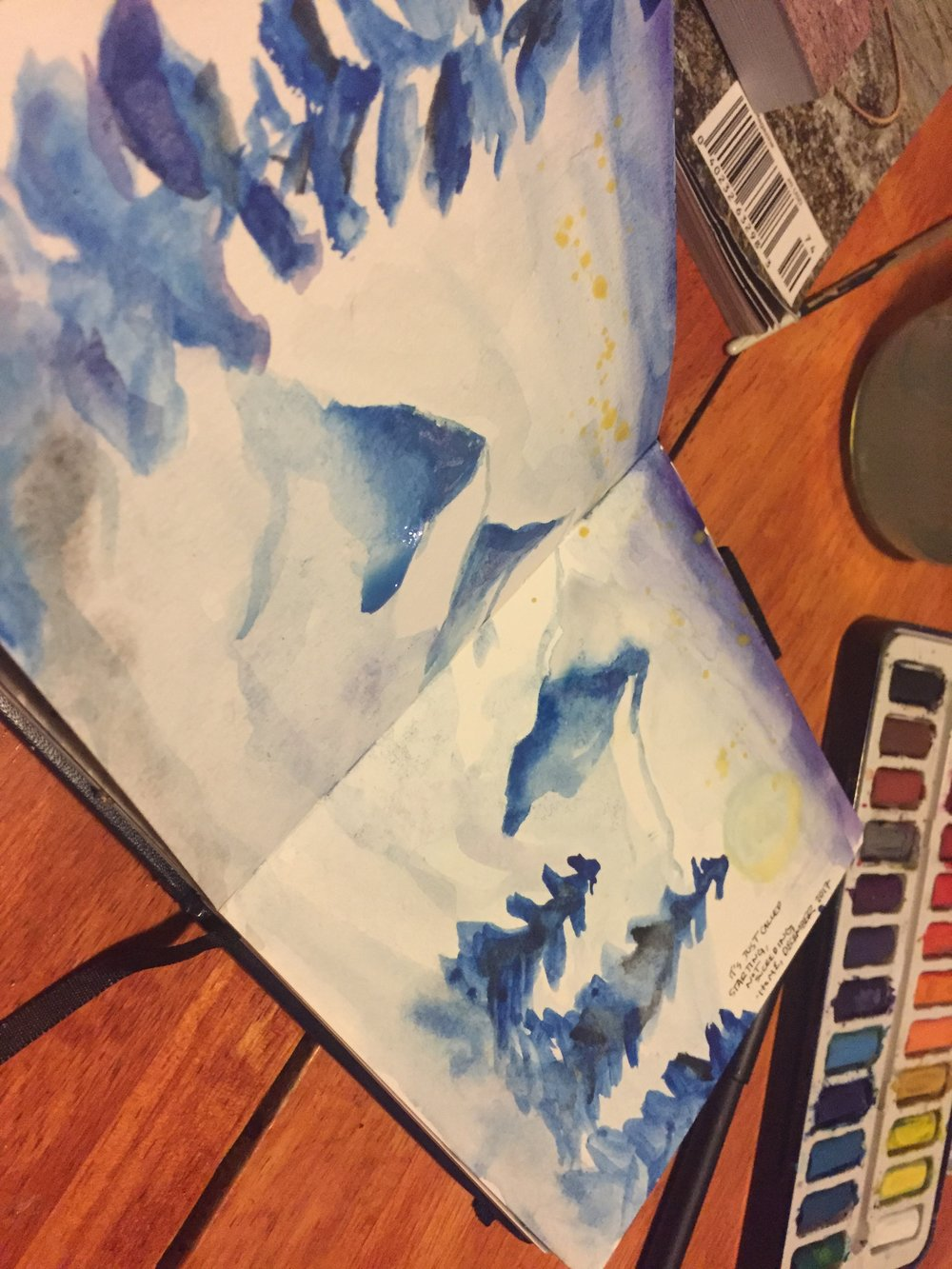 I've been working on my mountains. Send help and advice!