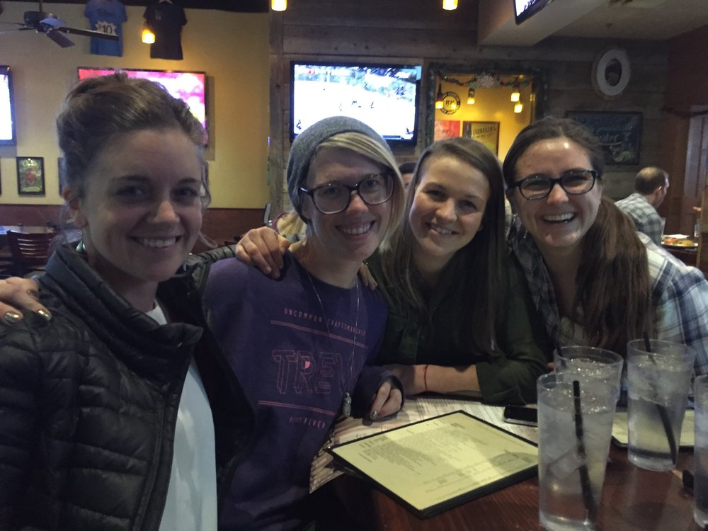 The women of OARS in a rare in-city sighting