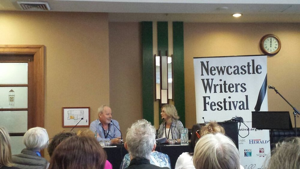 Author chat with Michael Robotham at Newcastle Writers Festival, 2015
