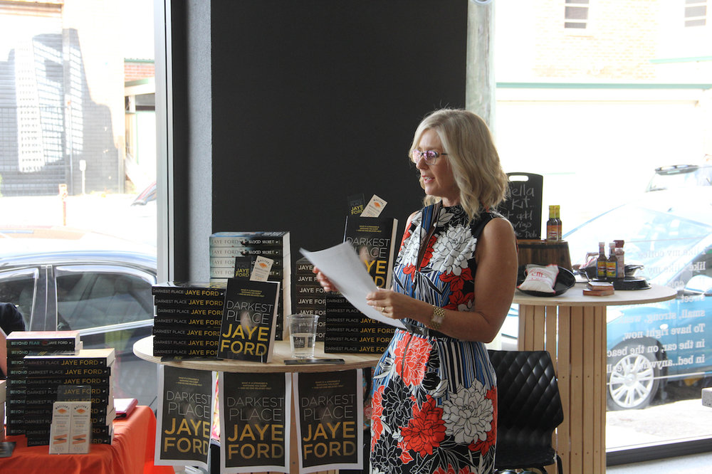 Launching Darkest Place in Wickam, Newcastle where the book is set