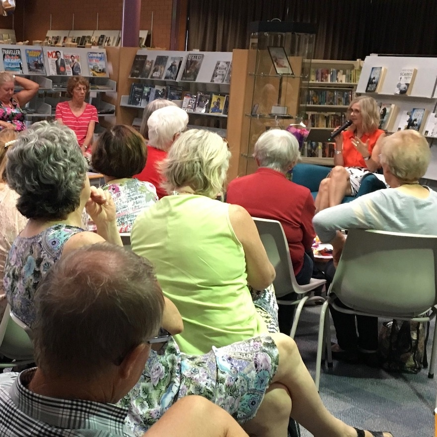 Speaking at Belmont Library at the 10th birthday celebration of Book Club