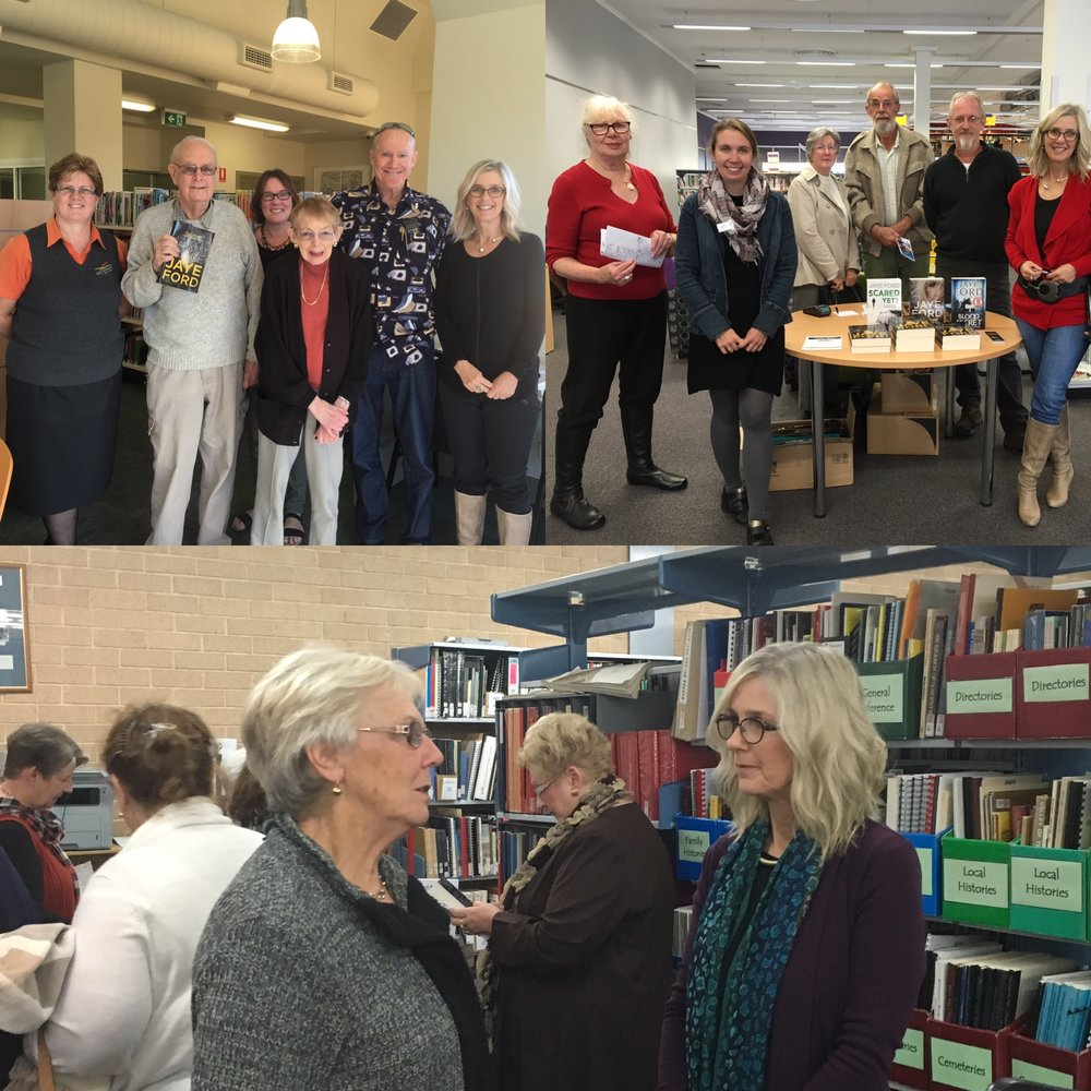 On tour in the NSW Central West, meeting readers in Bathurst, Lithgow and Mudgee