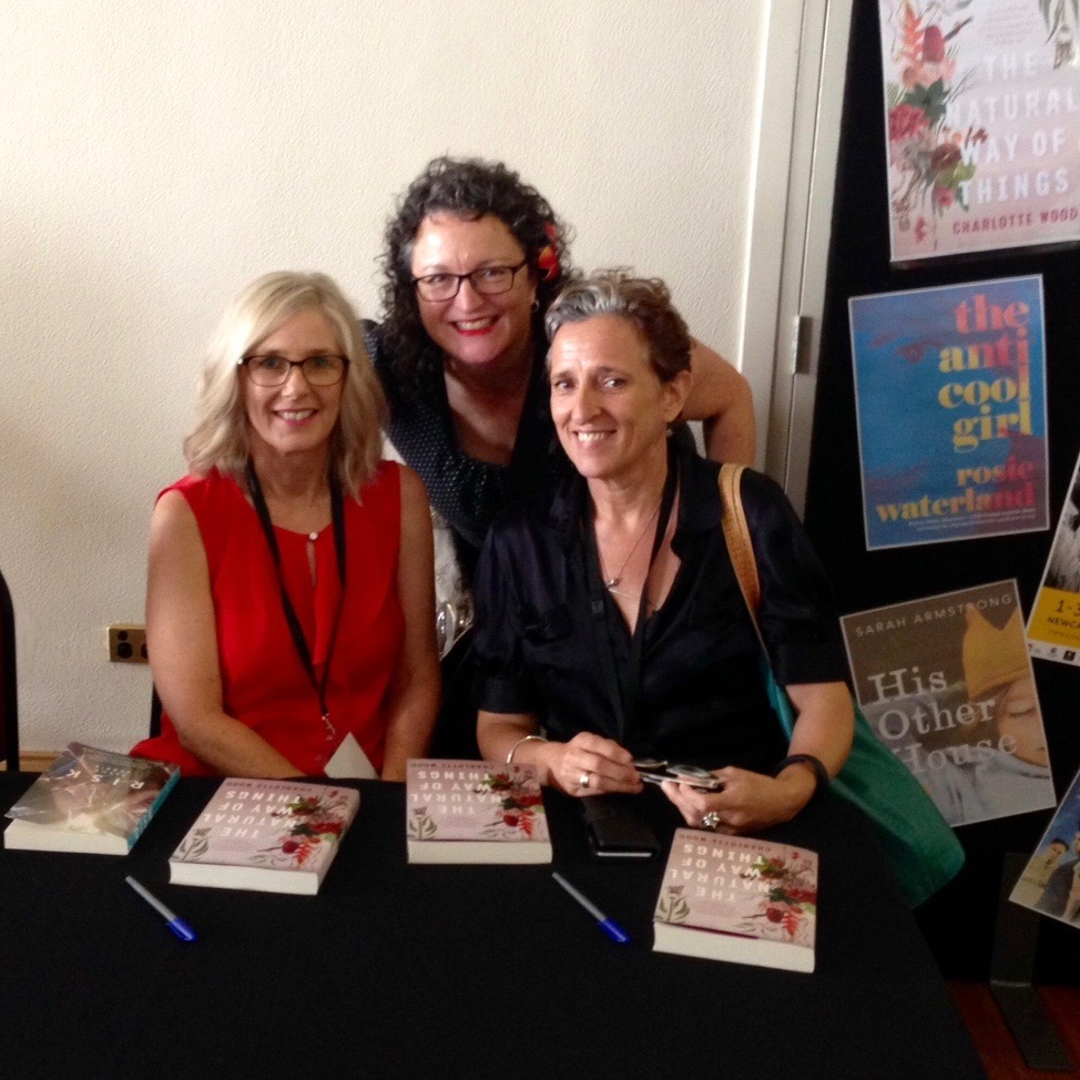 With Angela Savage & Charlotte Wood at Newcastle Writers Festival, 2016