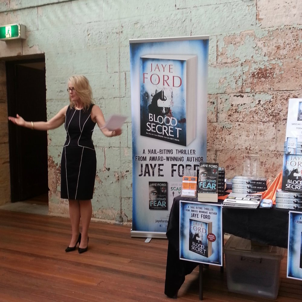 Launching Blood Secret at the old Newcastle Lock-up